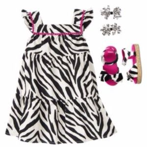 GYMBOREE Girl's Wild For Zebra Animal Print Dress